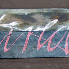 frau jenson, 2000 Rückseite, Holzobjekt