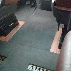 tappeto realizzato su misura per camper