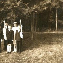 Harald 7 Jahre - Kommunion 1953 in Rosenheim