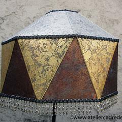 amusant abat jour dome mauresque recouvert d'eclats de métal
