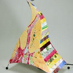 abat jour papiers  décorés par Cadre de Vie collés sur le polyphane