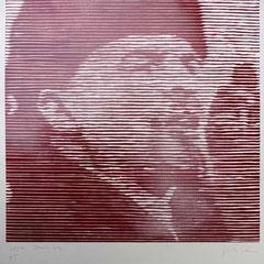 Wladimir Iljitsch Uljanow, Holzschnitt., Guido Löhrer auf der Aachener Kunstroute 2016