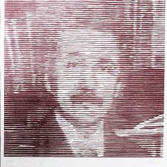 Albert Einstein, Holzschnitt. Guido Löhrer auf der Aachener Kunstroute 2016
