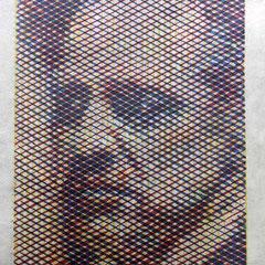 Marlon Brando, Holzschnitt, dreifarbig, Guido Löhrer auf der Aachener Kunstroute 2016
