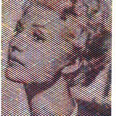 Rita Hayworth, Holzschnitt, Dreifarbig, Guido Löhrer auf der Aachener Kunstroute 2016