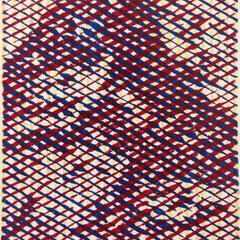 Nordwand, Holzschnitt, dreifarbig, Guido Löhrer auf der Aachener Kunstroute 2016
