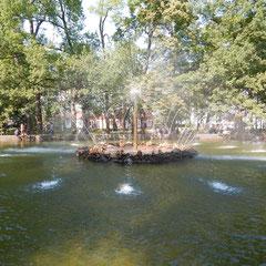 Springbrunnem im unteren Park
