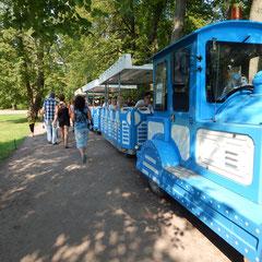 Ein kleiner Zug für unsere Gäste in Peterhof.