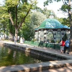 Pavillon im unteren Park