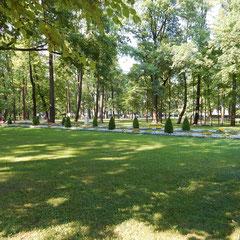 Unterer Park in Peterhof - Besuch nach der Stadtrundfahrt in Sankt Petersburg.