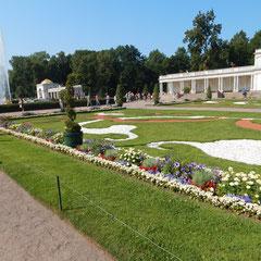 Gartenarchitektur bei einenem Ausflug nach Peterhof