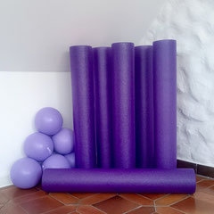 Foam Roller und Pilates Bälle bei Pilates am Meer