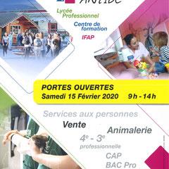 Jeanne Antide - CAP | CAPa | BAC PROFESSIONNEL | DE  Portes ouvertes: Samedi 15 Février 2020 09:00-14:00  Jeanne Antide - 55, impasse du Brévent - 74930 Reignier 04 50 43 87 65 | reignier@cneap.fr | www.lyceejeanneantide.fr