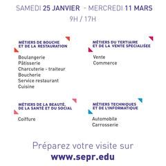 SEPR - CAP | MC | BP | BAC PROFESSIONNEL  Portes ouvertes: Samedi 25 Janvier 2020 09:00-17:00  SEPR - 58 chemin de Villedieu - 07100 Annonay  04 75 32 40 20 | accueil@sepr.edu | www.sepr.edu/