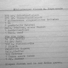 Königsberger Klopse mit Kapernsoße