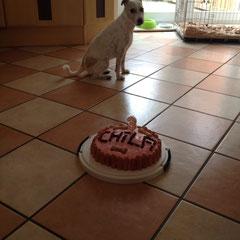Ja, Chila durfte sie auch mit ihrer Hundefreundin Abby verspeisen :))