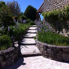 cheminement vers le jardin
