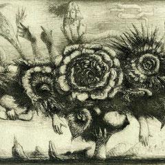Zweierlei, Motiv 7 -Bouquet - 14x19 - Aufl. 108 - 1947 - WVZ.R249