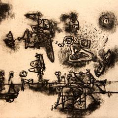 o.T. - Radierung - 18 x 20 cm - Aufl. unbekannt - 1950-62 - WVZ.R670
