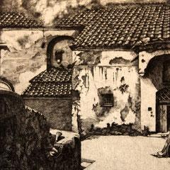 Südliche Fassade - Radierung - 29 x 20 cm - Aufl. 45 - 1935 - WVZ.R97