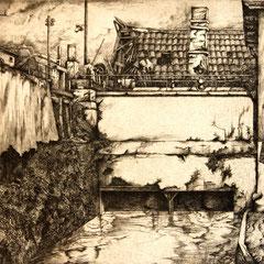 Turbinenkammer - Radierung - 20 x 27 cm - Aufl. unbekannt - 1936 - WVZ.R141