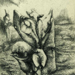 o.T.  Morgenröte Motiv 2 - 12x9 - Aufl 275 - 1949 - WVZ.R386