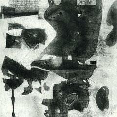 Schwarzes - Radierung - 23 x 17 cm - Aufl. unbekannt - 1950-62 - WVZ.R724
