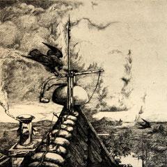 Turmglocke - Radierung - 17,5 x 21,5 cm - Aufl. unbekannt - 1935 - WVZ.R136
