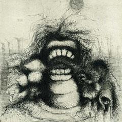 Zweierlei, Motiv 6 -Fresser - 19x17 - Aufl. 108 - 1947 - WVZ.R248