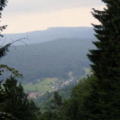 Blick von der Steinernen Bank ins Eiterbachtal