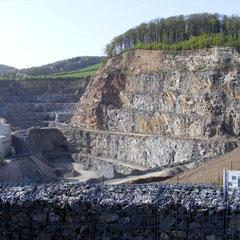 Blick in den Mackenheimer Steinbruch