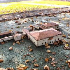 """Modell der römischen Villa """"Haselburg"""""""