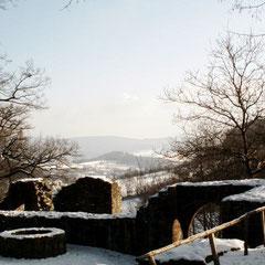 Ruine Rodenstein im Winter