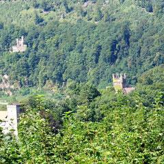 Alle vier Burgen auf einem Blick