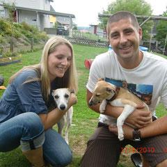 Silke und Mario + Stella mit Lennox - Abschied am 17.08.2010 nach Amstetten (NÖ)