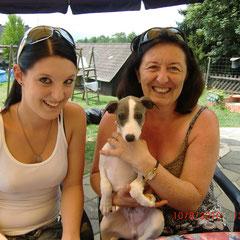 Gertraud und ihre Tochter Ute mit Coco - Abschied am 10.08.2010 nach Abtenau (S)