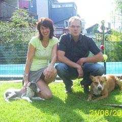 Marion und Mario mit Sandro + Gina - Abschied am 14.08.2010 nach Mondsee (OÖ)