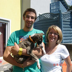 Michael und Bianca mit Joko - Abschied am 08.08.2010 nach Hainburg (NÖ)
