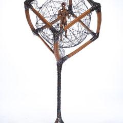 Quadrate des Geistes        Holz/Metall 2014  Größe 1,70 x 0,70m