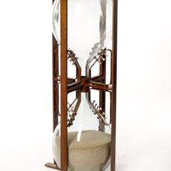 Lebensuhr   Glas/Metall 2011  Größe  1,15m x 0,40m
