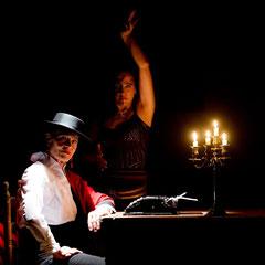 """Fotos zum Video Projekt """"La Corrida"""" Ari mit Regina Franzke / Aufnahmen Javier Moya / Aug. 2015"""