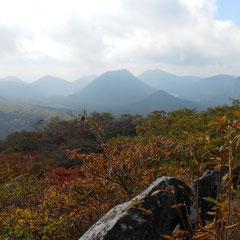 霞む榛名富士のほう