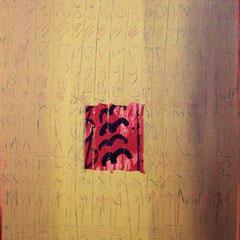 Teo Libardo - Recouvrir-Découvrir n° 85, 1990 - acrylique et sable sur toile, 116x89 cm - © Adagp, Paris, 2017
