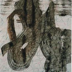 Teo Libardo - Blanches n° 328, 1997 - acrylique sur papier, 65x50 cm - collection particulière - © Adagp, Paris, 2017