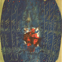 Teo Libardo - Recouvrir-Découvrir n° 149, 1991 - acrylique sur papier, 57x45 cm - collection particulière - © Adagp, Paris, 2017