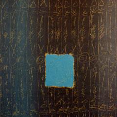 Teo Libardo - Recouvrir-Découvrir n° 95, 1990 - acrylique sur papier, 75x54,5 cm - collection particulière - © Adagp, Paris, 2017