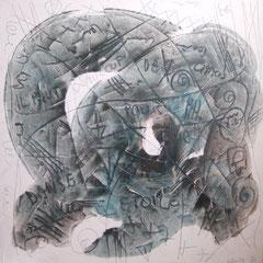 Teo Libardo - Blanches n° 346, 1996 -  acrylique sur toile, 100x100 cm - © Adagp, Paris, 2017