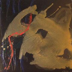 Teo Libardo - Noires n° 420, 2002 - acrylique sur toile, 60x60 cm - © Adagp, Paris, 2017
