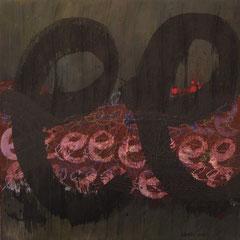 Teo Libardo - Abécédaire n°519, 2014 - technique mixte sur toile, 60x60 cm - © Adagp, Paris, 2017