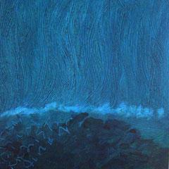 Teo Libardo - Bleues n°557, 2016 - acrylique et encre sur toile, 60x60 cm - © Adagp, Paris, 2017